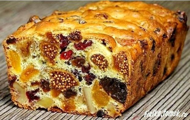 Пирог с изюмом и орехами и рецепт